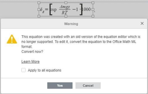 Convert equation