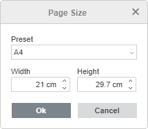 Custom Page Size