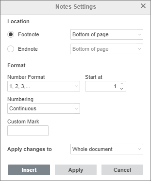 Consolidating data from multiple sources in one footnote