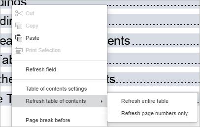 Contextual menu