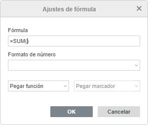 Añadir fórmula