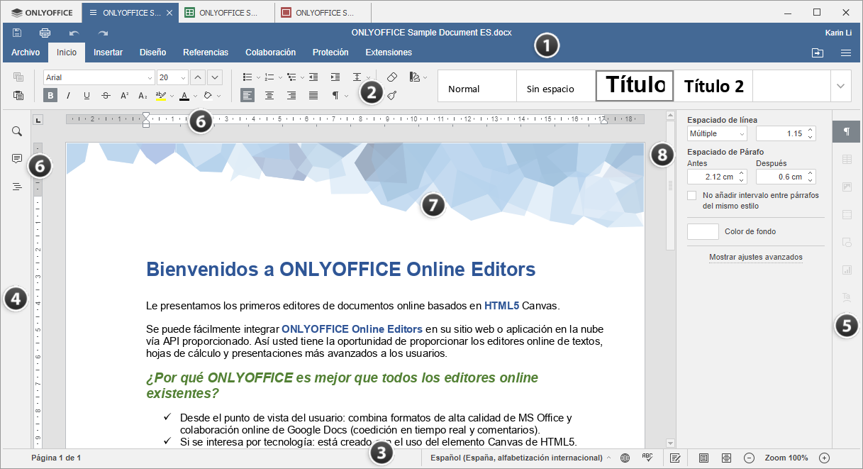 Editor de documentos de escritorio