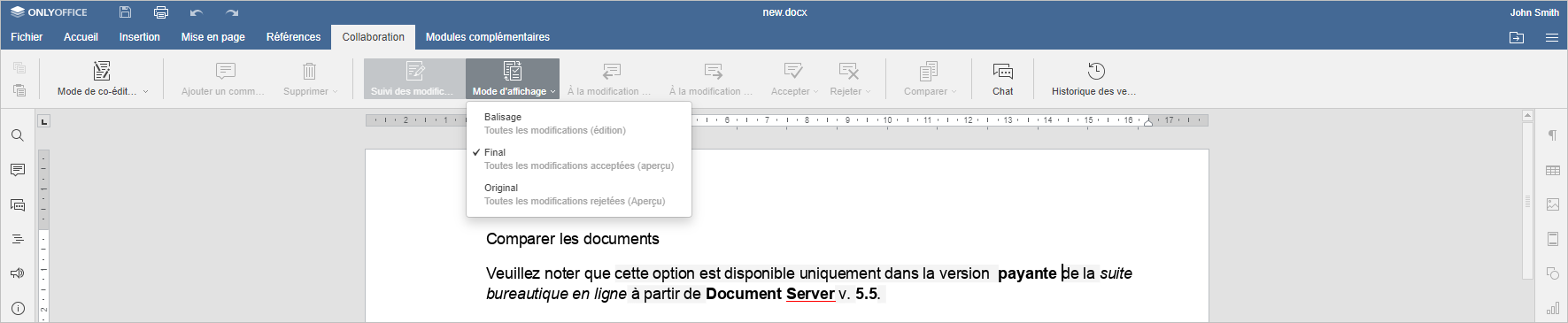 Comparer les document - Final