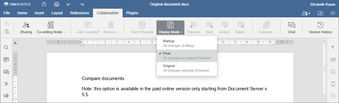 Compare documents - Final