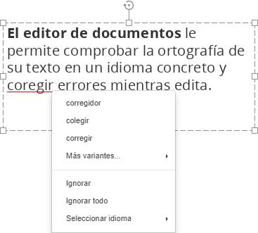 Corrección ortográfica