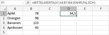 MITTELWERTA-Funktion