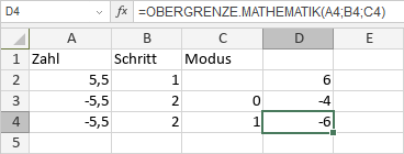 OBERGRENZE.MATHEMATIK-Funktion