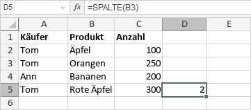 SPALTE-Funktion