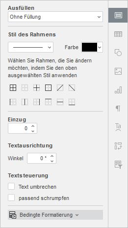 Bedingte Formatierung - Rechte Seitenleiste