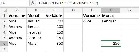 DBAUSZUG-Funktion