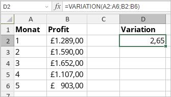 VARIATION-Funktion