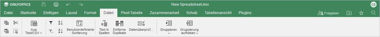 Registerkarte Daten