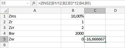 ZINSZ-Funktion