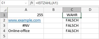 ISTZAHL-Funktion