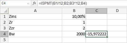 ISPMT-Funktion