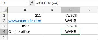 ISTTEXT-Funktion