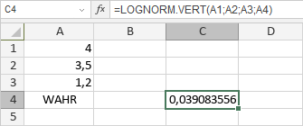 LOGNORM.VERT-Funktion