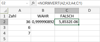 NORMVERT-Funktion
