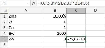 KAPZ-Funktion
