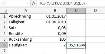 KURS-Funktion
