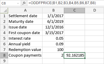 ODDFPRICE Function