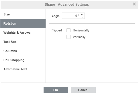 Shape - Advanced Settings