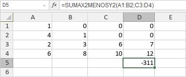 Función SUMAX2MENOSY2