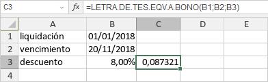 Función LETRA.DE.TES.EQV.A.BONO