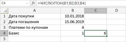 Функция ЧИСЛКУПОН