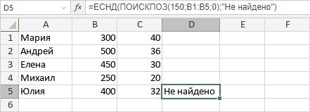 Функция ЕСНД