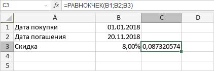 Функция РАВНОКЧЕК