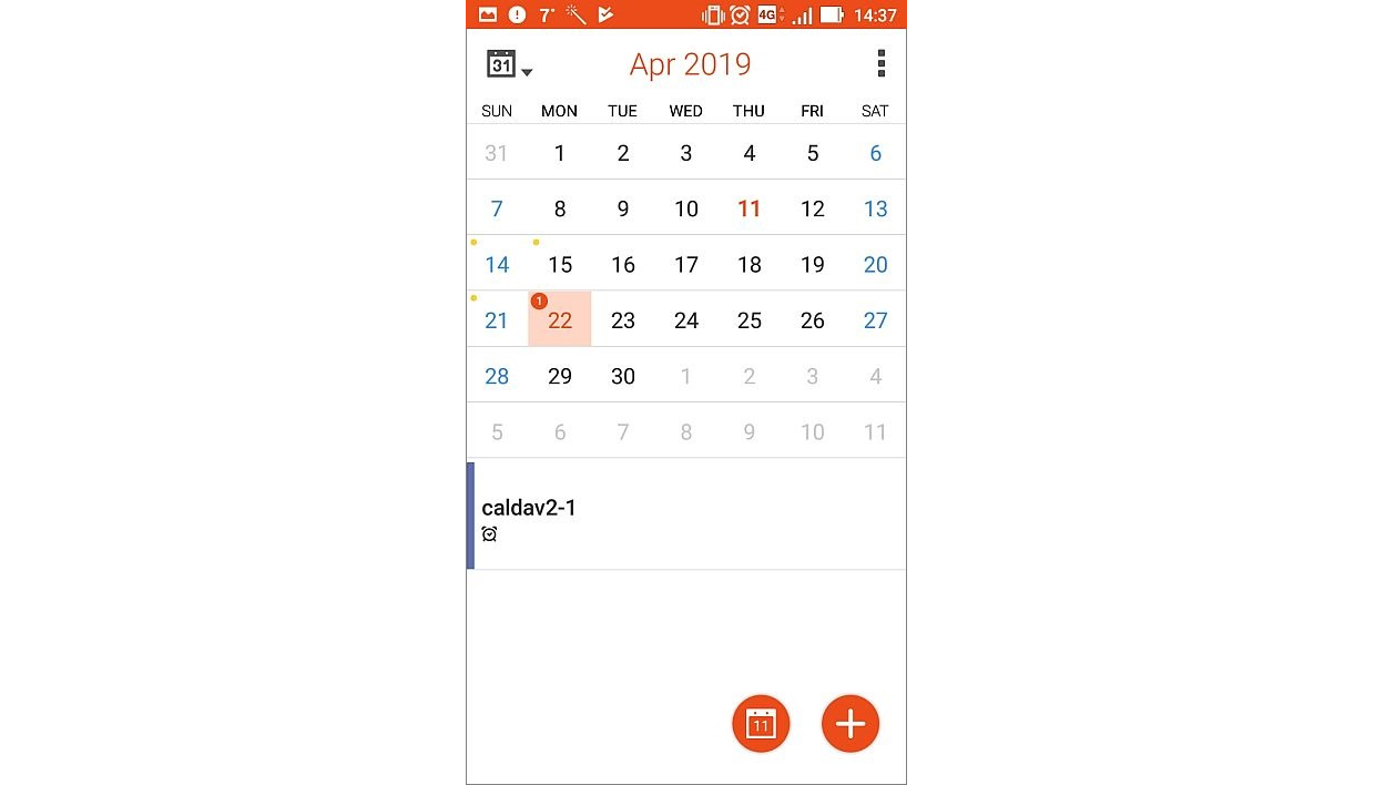 Exporting Calendar - Android device