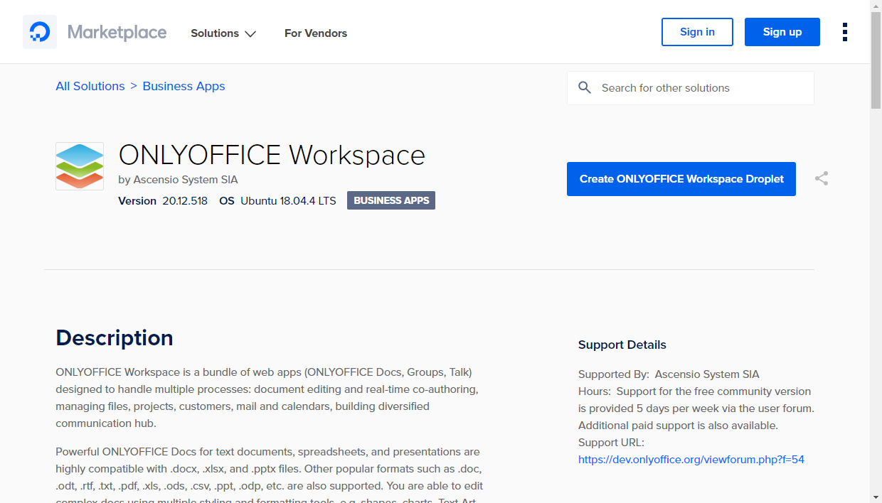How to deploy the ONLYOFFICE application in DigitalOcean? - ONLYOFFICE