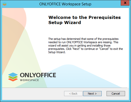How to deploy ONLYOFFICE Workspace for Windows on a local server? Step 2