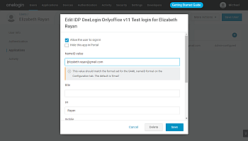 How to configure ONLYOFFICE SP and OneLogin IdP