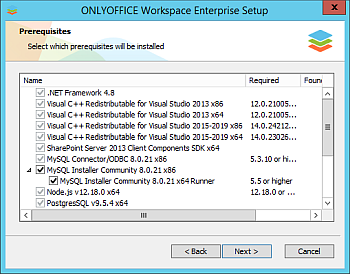 How to deploy Enterprise Edition for Windows on a local server? Step 2