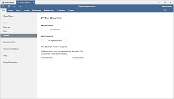 Protect section
