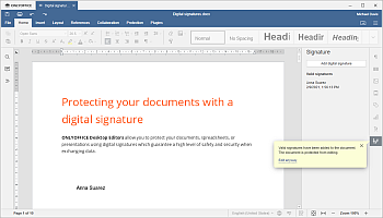 Visual representation of the signature