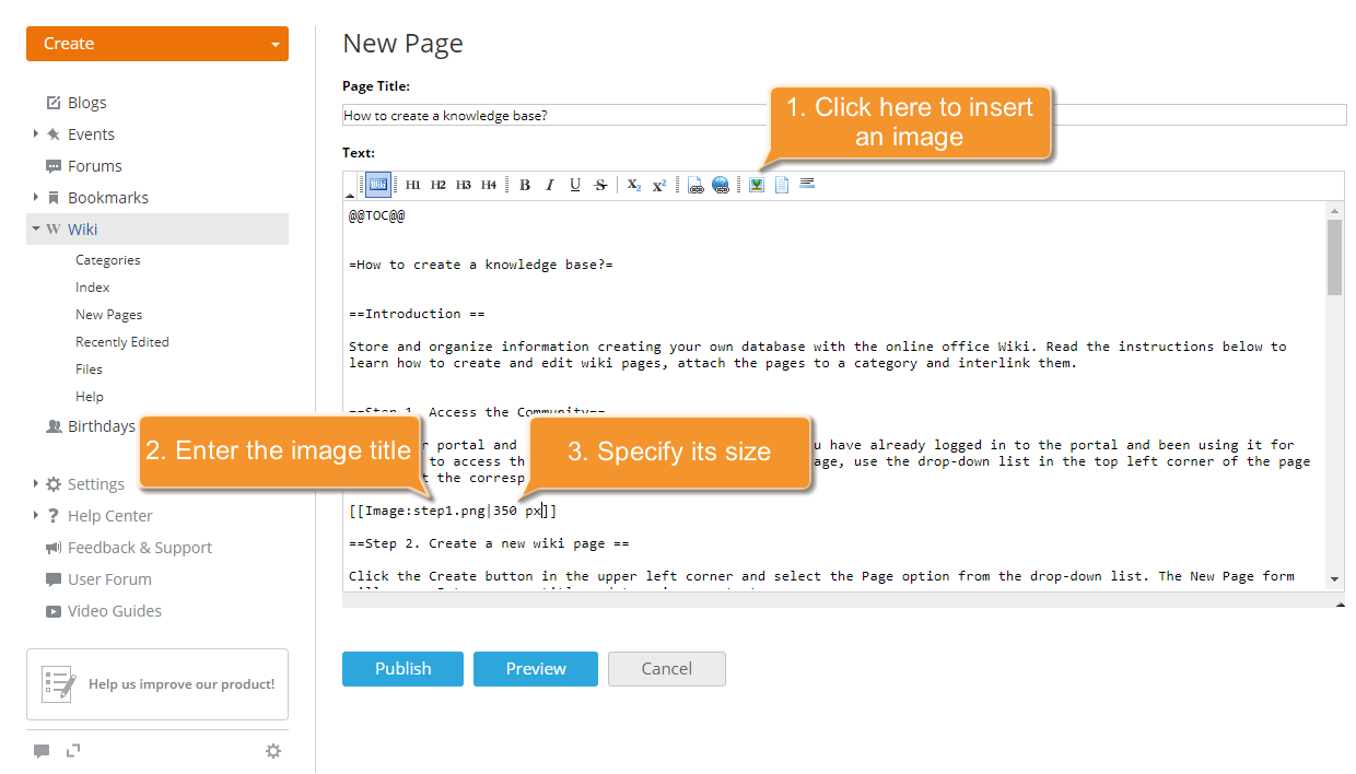 How to create a knowledge base? Step 5