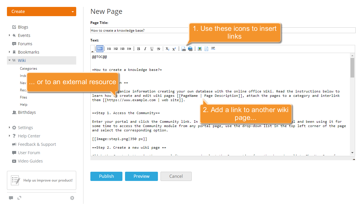 How to create a knowledge base? Step 6