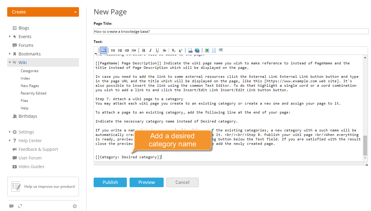 How to create a knowledge base? Step 7