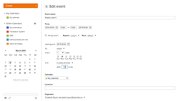 How to add a recurring event? Step 3