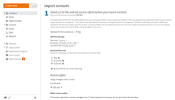 How to add contacts to CRM in bulk? Step 4