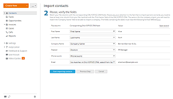 How to add contacts to CRM in bulk? Step 6