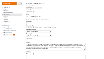 How to create invoices for your clients? Step 5
