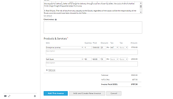 How to create invoices for your clients? Step 7