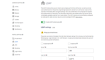 LDAP settings - users
