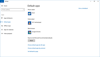 Default apps