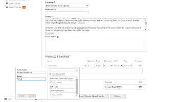 How to create invoices for your clients? Step 6