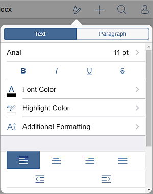 Paragraph Indent settings
